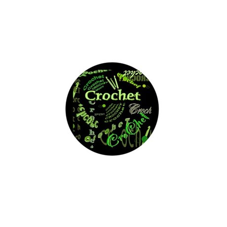 Crochet Green Mini Button (10 pack)