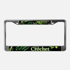 Crochet Green License Plate Frame