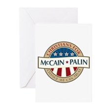 Christians for McCain Palin Greeting Cards (Pk of