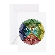 Elemental Mandala Greeting Card
