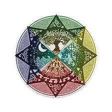 """Elemental Mandala 3.5"""" Button"""