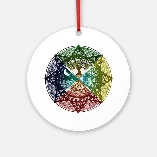 Elemental Mandala Ornament (Round)
