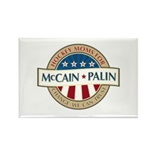 Hockey Moms for McCain Palin Rectangle Magnet