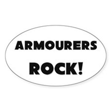 Armourers ROCK Oval Decal