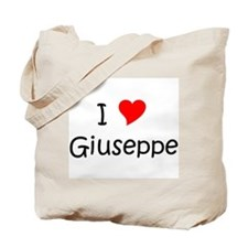 Cute I love giuseppe Tote Bag