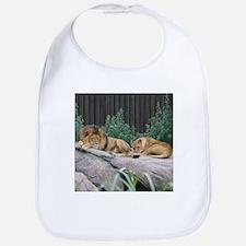 Sleepy Lions Bib