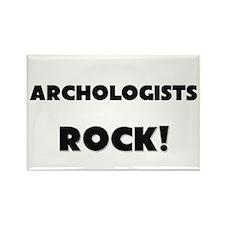 Archologists ROCK Rectangle Magnet