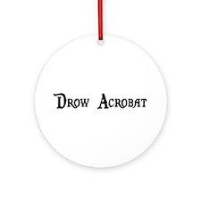 Drow Acrobat Ornament (Round)