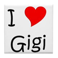 Cute I love gigi Tile Coaster
