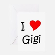 Funny I love gigi Greeting Card