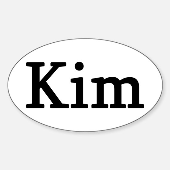 Kim - Personalized Oval Decal