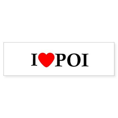 I Love Poi Bumper Sticker