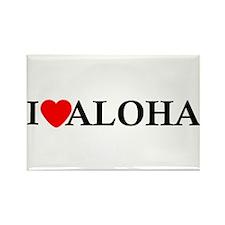 I Love Aloha Rectangle Magnet (10 pack)