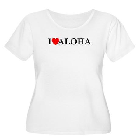 I Love Aloha Women's Plus Size Scoop Neck T-Shirt