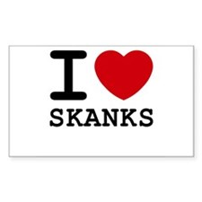 I heart skanks Rectangle Decal