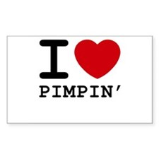 I heart pimpin' Rectangle Decal