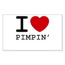 I heart pimpin' Rectangle Sticker 50 pk)