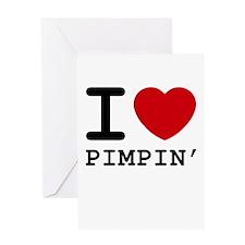 I heart pimpin' Greeting Card