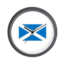 Scottish Saltire Wall Clock