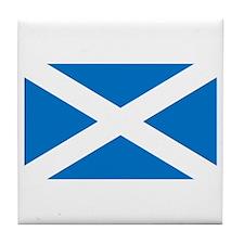 Scottish Saltire Tile Coaster