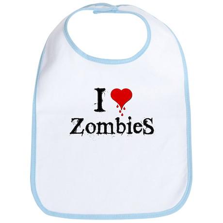 I Love [Heart] Zombies Bib
