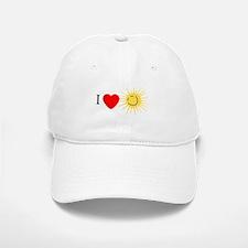 I Love Happy Sunshine Baseball Baseball Cap