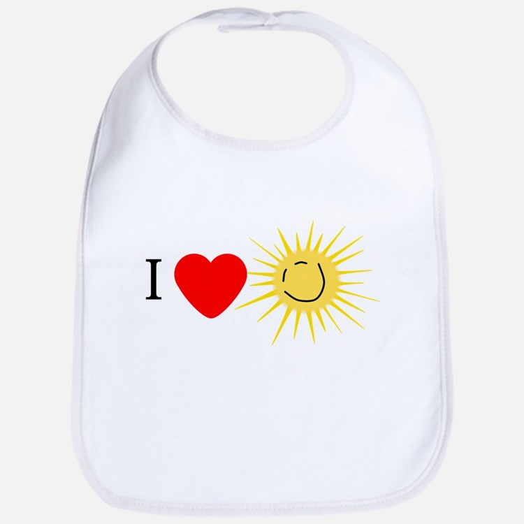 I Love Happy Sunshine Bib