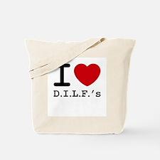 I heart D.I.L.F.'s Tote Bag