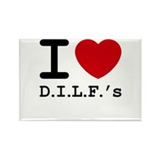 I heart D.I.L.F.'s Rectangle Magnet