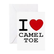 I heart camel toe Greeting Card