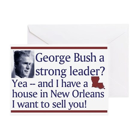 George Bush a strong leader? Greeting Cards (Packa