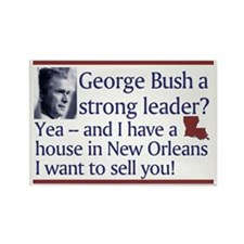 George Bush a strong leader? Rectangle Magnet