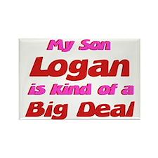 My Son Logan - Big Deal Rectangle Magnet