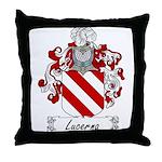 Lucerna Family Crest Throw Pillow