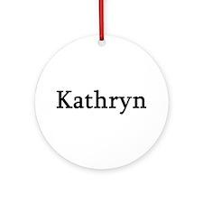 Kathryn - Personalized Keepsake (Round)