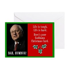 Cheney Goddamn Greeting Card