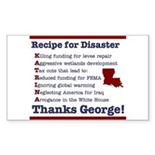 Recipie for Disaster Rectangle Decal