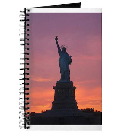Lady Liberty at Sunset Journal