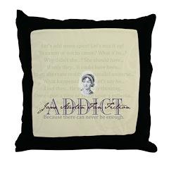 JAFF Adict Throw Pillow