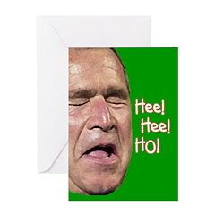 Bush Laugh Greeting Card