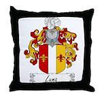 Luna Family Crest Throw Pillow