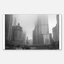 Chicago Rain Rectangle Sticker 50 pk)