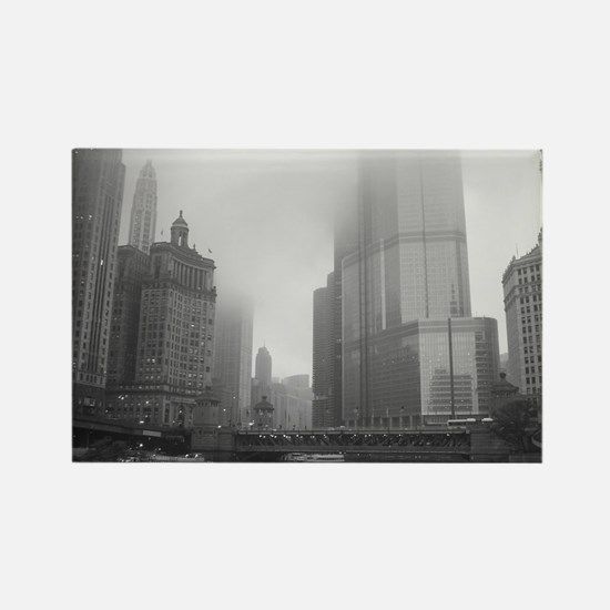 Chicago Rain Rectangle Magnet
