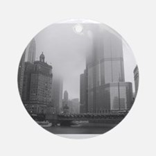 Chicago Rain Ornament (Round)