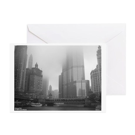 Chicago Rain Greeting Cards (Pk of 10)