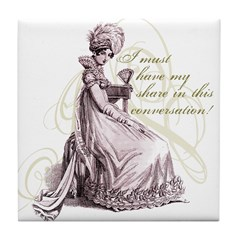 Conversation Tile Coaster