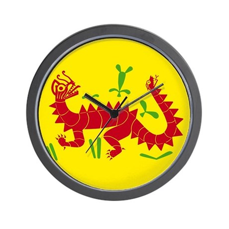 Moche Dragon Wall Clock