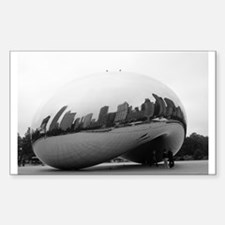 Chicago Reflections Rectangle Decal