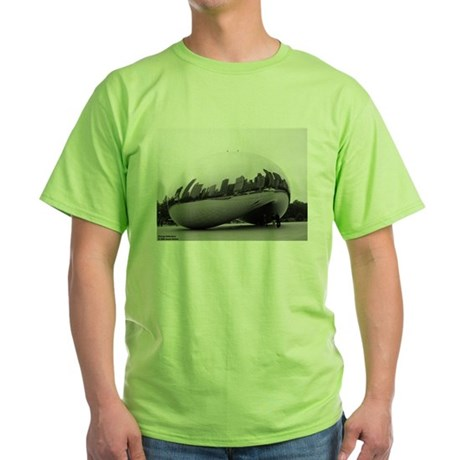 Chicago Reflections Green T-Shirt