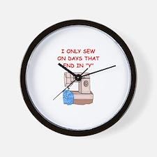 sewing gifts t-shirts Wall Clock